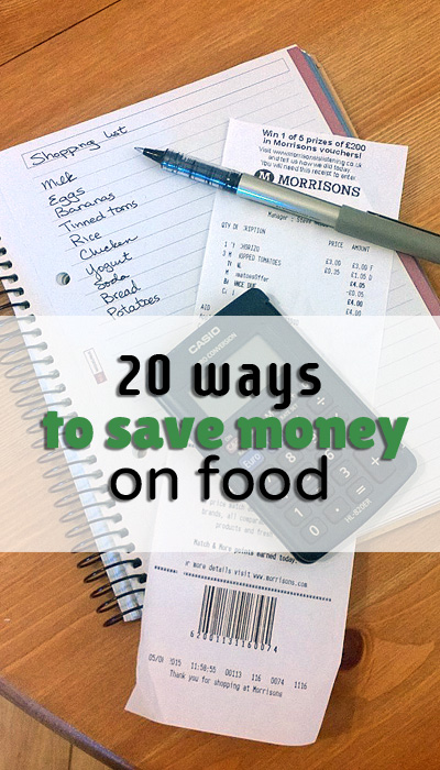 20 ways to save money on food