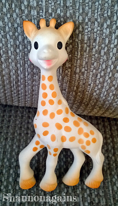 how an expensive yellow giraffe named sophie came into our lives