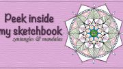 Peek inside my sketchbooks: zentangles and mandalas