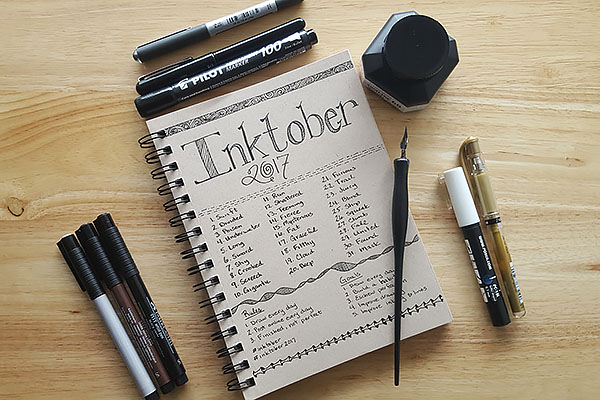 Inktober 2017 supplies 2
